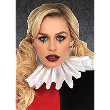 Harley Quinn estilo plisado cuello de plisado