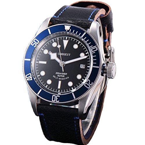 41mm Corgeut zaffiro vetro luminoso meccanico automatico orologio da uomo...