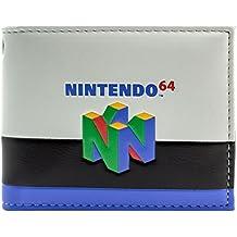 Nintendo 64 Console di gioco a righe colorate bianca portafoglio