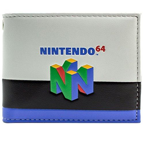 Nintendo 64 Spielkonsole bunte gestreifte Weiß Portemonnaie Geldbörse