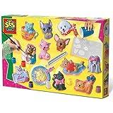 SES Creative - Moldea y pinta, Gatos y perros, multicolor (01154)