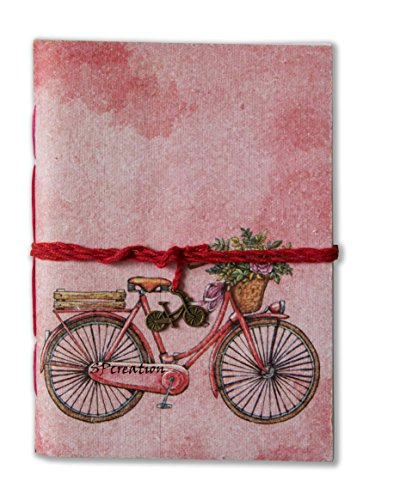 SPcreation Vintage Bicycle handmade Handicraft Diary(12.7cm x 17.78 cm)(94 pages) For Rs. 199