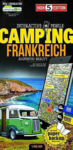 Interactive Mobile CAMPINGMAP Frankreich: Campingkarte Frankreich 1:800 000 (High 5 Edition CAMPING Collection) 1 800 Mobile