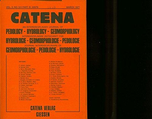 CATENA Geomorphologische Gefahrenkarte von Grindelwald, Nr. 1, 2,3 u. 4. (interdisziplinäre Zeitschrift für Hydrologie-Geomorphologie-Pedologie, Vol. 3, No. 3/4 Part B: Maps, March 1977)