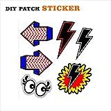 Laptop Patch Sticker für Computer Handys Taschen Schuhen Augen Pfeile Blitz (Nr. 33)