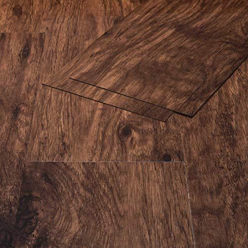Klebe Vinylboden Selbstklebend Holzoptik Eiche Franken braun 1,3mm Vinyl Bodenbelag Vinstar Easy