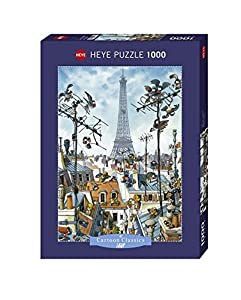 Cartoon Puzzle Eiffel Tower 1000 Teile (KV&H Verlag)