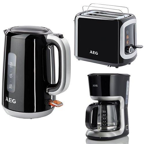 AEG PerfectMorning Frühstücksset Wasserkocher + Doppelschlitz-Toaster + Kaffeemaschine
