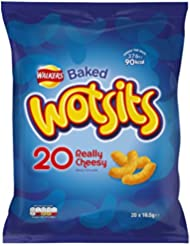 Walkers Wotsits Cheese Snacks, 16.5 g, Pack of 20