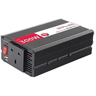 300w Power Inverter Professional 12V DC to AC Soft Start Converter with USB for Car, Caravan or Camping with 1 Year Warranty