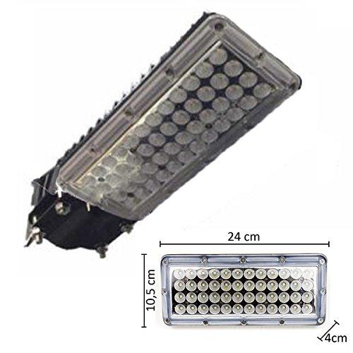 FUTUR PRINT® - Faro LED 50W Professionale per illuminazione stradale per esterno IP66 molto potente 6500 Lumen con 48 LED SMD 2835 disponibile a Luce bianco Freddo 6400K, Naturale 4000K e Caldo 3000K. Classe di efficienza energetica A