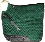 Engel Reitsport Lammfell Schabracke Stoff grün Fell grün (Schabra 1) farbenfroh: mit 12 Lammfell Farben kombinierbar! Dressur (D)