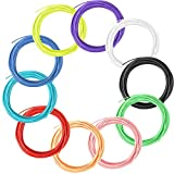 3D Printing Pen Filament Refills - 10 Different Colors 1.75mm non-toxic material PLA Linear Plastic 10 Meters Each Color in a Separate Vacuum Sealed PackFilament 3D Drawing Pen Filament