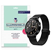 iLLumiShield - Huawei Watch Matte Screen Protector with Lifetime Replacement Warranty / Anti-Glare HD Clear Film / Anti-Bubble & Anti-Fingerprint / Premium Japanese High Definition Invisible Crystal Shield - [3-Pack] Retail Packaging