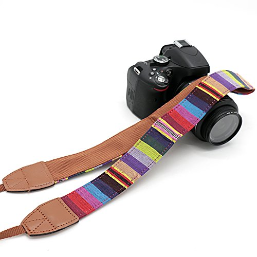 RVM Universale laccio da collo delluomo per DSLR with stripes Canon FUJI Fujifilm Leica Nikon Pentax Olympus Sony Panasonic Pentax Samsung Sigma