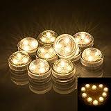 OUTANG LED-Kerzen Teelichter Elektrisch Wasserdicht Flammenlos und Rauchfrei Batteriebetriebene...