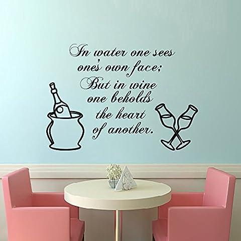 decorrooms pared adhesivos en agua One sees la propia Face Quote vinilo adhesivo adhesivo decoración del hogar diseño de