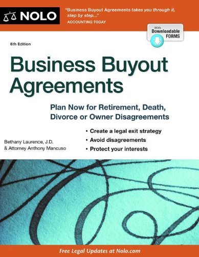 Business Buyout Agreements: Plan Now for Retirement, Death, Divorce or Owner Disagreements by Bethany K. Laurence (28-Jun-2013) Paperback par Bethany K. Laurence