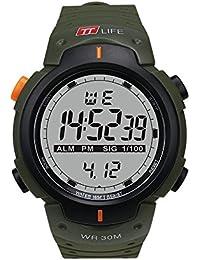 TTLIFE TS07 Reloj de Pulsera Deportivo Unisexo Reloj Digital Reloj Impermeable Multifuncional Reloj al Aire Libre para Hombres y Mujeres (Verde)
