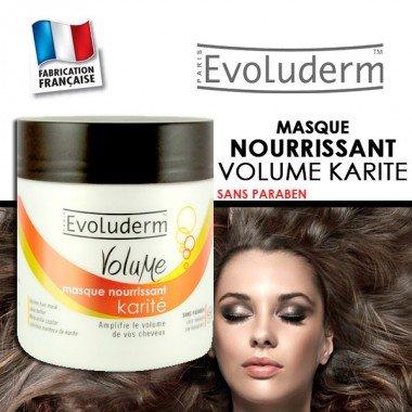 Masque capillaire nourrissant - Volume Karité - 500ml Evoluderm