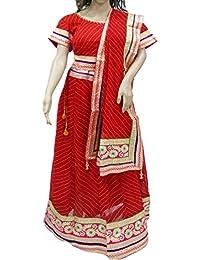 Ratnatraya Chiffon Red Women's Lehenga Choli Heavy Laces   Latest Designer Party Wear Heavy Laces