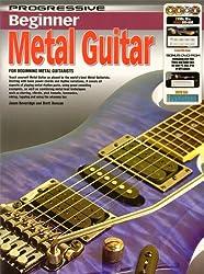 Progressive: Beginner Metal Guitar (Book/CD/2DVDs/DVD-ROM/Poster). Partitions, CD, 2 x DVD (Région 0), DVD-Rom, Posters pour Guitare