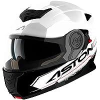Astone Helmets Touring diadema, color Blanco/Negro, talla M
