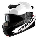 Astone Casco integrale con visiera Touring, Bianco/Nero, M