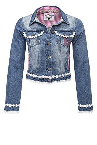 Hailys Damen Jeansjacke Denim Leichte Jacke Oktoberfest Blue XXL (Frauen Strass-jacken Für)