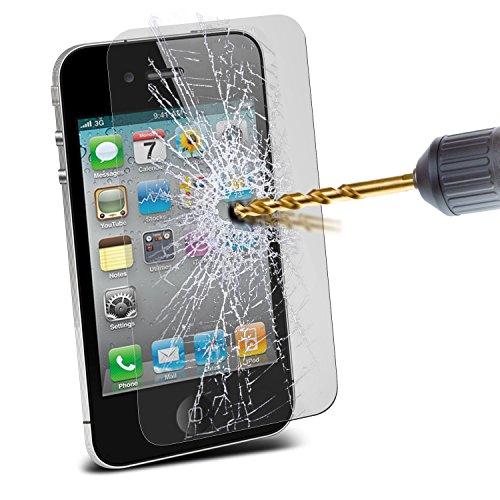 Aventus ( Pack Of 6 ) Apple iPhone 4 étui Cover Case Protections d'écran LCD de protection élégantes en verre trempé Crystal Clear Packs Avec Chiffon & Demande de carte Tempered Glass (6 Pack)