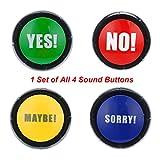 Omiky®Klangspielzeug,Ja Nein Entschuldigung Vielleicht Button Sound Gag Spielzeug Party Spielzeug (4Pcs (YES NO Maybe Sorry))
