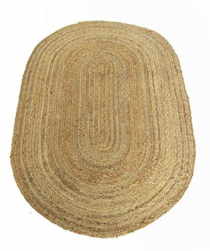 Chardin home FARMHOUSE Jute Teppich, rund, Geflecht natur, Größe: 45,7cm X30 Oval. - Jute-teppich Oval