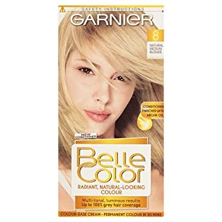 Garnier Belle Color 8 Natural Medium Blonde Permanent Hair Dye Pack of 3