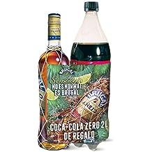 Brugal Pack Regalo 1 x Botella Ron Añejo 1 L+ 1 x botella Coca-Cola Zero 2 L