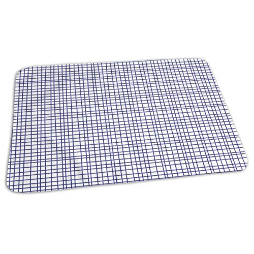 Loose Linen In Bleu Baby Portable Reusable Changing Pad Mat 19.7x 27.5 inch -