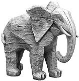 Gartendeko schöner Elefant aus Steinguss, frostfest
