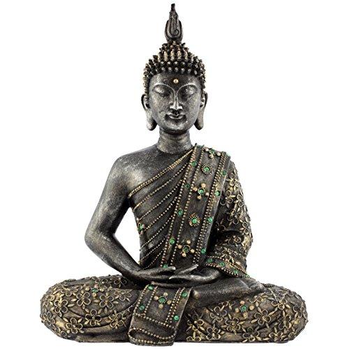 Bilderwelten Wandtattoo Zen Buddha Stein Wandtattoo Wandsticker Blume Pflanze, Größe: 78cm x 65cm