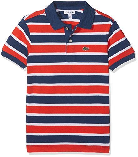 Lacoste Jungen Poloshirt Pj8912, Mehrfarbig (Fusion/Blanc-Flibustier), 10 Jahre (Herstellergröße: 10A) (10 Herren-fusion)