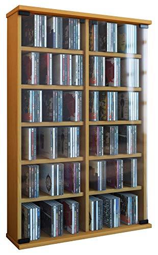 """VCM Regal DVD CD Rack Turm Medienregal Medienschrank Aufbewahrung Schrank Holz Standregal Möbel in 6 Farben """"Roma"""""""