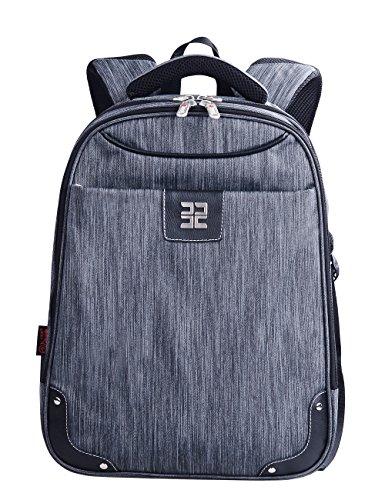 Douguyan Nylon Business Laptop Rucksack Notebook Tasche bis 15.6 Zoll Damen Herren Student Daypack für Schule Arbeit Campus Reisen Backpack Wasserdicht Businesstasche Grau 153