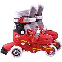Disney J892301 Cars 2 - Patines en línea con 3 ruedas (talla ajustable 27-29)