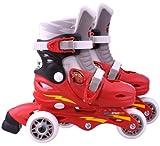Disney J892301 - Pattini in Linea per Bambini Regolabili 2 in 1, Cars 2 Taglia 27-29