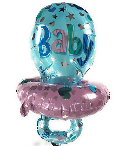 AEX Babydusche geformter Folienballon (Schnuller, blau) (Giraffe Baby-dusche Blaue)
