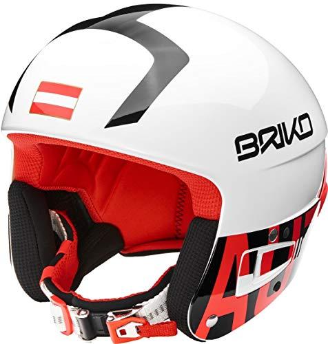 Briko Vulcano FIS 6.8 Austria - Casco da Sci, Bianco/Rosso/Nero, 64cm