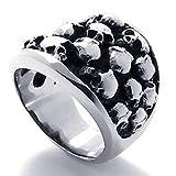 AnaZoz Jewelry Stainless Steel Silvery Black Skeleton Biker - Best Reviews Guide