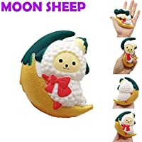 YOYOGO Juguetes para Niños Y Adultos Cartoon Moon Sheep Stress Reliever Yogur Suave Perfumado Slow Rising Toys