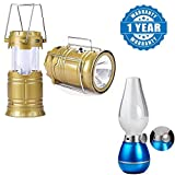 #5: Captcha 4 in 1 Solar Led Charging Lantern For Camping & Emergency Purpose With LED Retro Blow ON OFF Rechargeable Night Lamp (One Year Warranty)