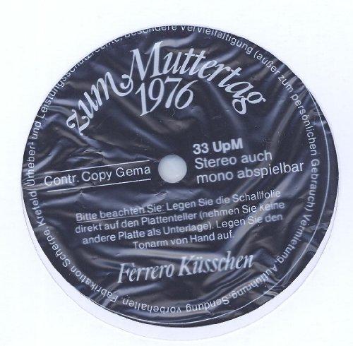 Ferrero Küsschen zum Muttertag 1976 WERBEPLATTE