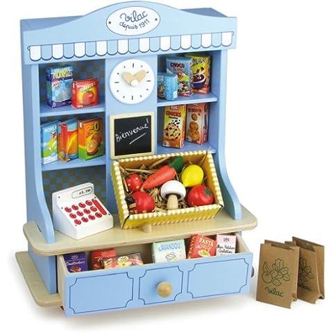 Vilac 8171 - Mueble de tienda de juguete con accesorios (27 piezas)