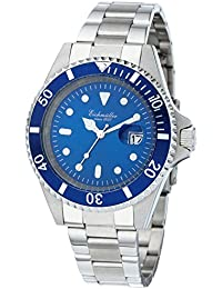 Eichmüller–Acero inoxidable Reloj de pulsera plata/azul Metallic Fecha reloj de hombre 20ATM 200m